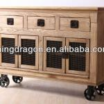 Chinese Antique industrial furniture,Oak Wood Sideboard
