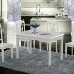 classical design solid birch wooden dining table and chair