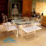 Clear Unique Acrylic dining room set,table and chair
