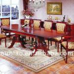double pedestals dining room sets