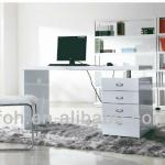 Europe Stylish White High Gloss Lacquer Computer Desk Home Furniture (FOH-1602 computer desk)