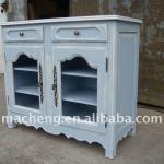 French 2 glass door chest