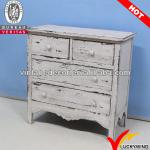 FSC vintage french country style wood drawer chest