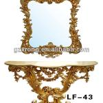 Gold noble polyresin dressing table LF-43