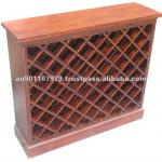High Quality Solid Mahogany Wooden Wine Rack