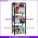 kingkara KAMR0113 15 Pocket Floor Rack Magazine Book Shelf