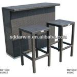 Outdoor rattan/wickerbar cheap rattan bar stools (DW-BT08+DW-BC016)