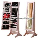 Perfect wooden mirrored jewelry cabinet/Jewelry armorie white