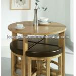 round dining table and chairs,wooden furniture