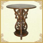 Vintage Style Round Pedestal Wooden Dining Table