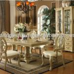 white color wood dining set 1+6