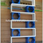 Wood cube shelves /home decorative cabinet/wooden display showcase in supermarket