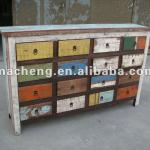 Antique 16 Drawers Colorful Cabinet