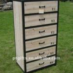 Wooden antique file cabinet