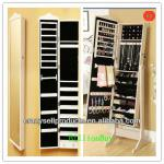 Perfect wooden jewelry mirror armorie cabinet white black brown pink