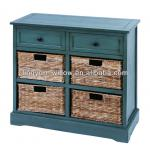 Living Room wooden cabinet+4pcs of rush baskets